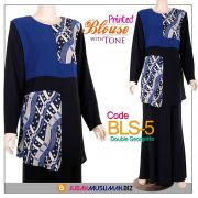 BLS5 Blouse Printed Blue