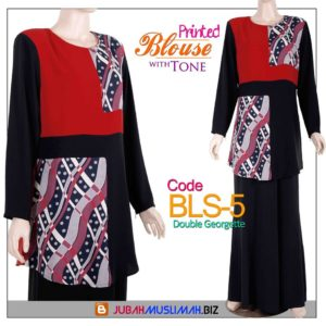 BLS5 Blouse Printed Red