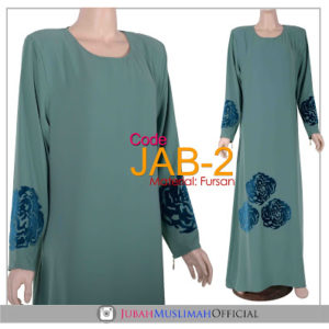 JAB2 Jubah A Cut Baldu Sea Green