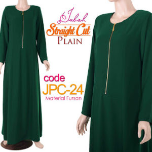 JPC24 Jubah Straight Cut Nursing Green