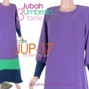 JUP17 Jubah Umbrella Plain 3 Tone Purple