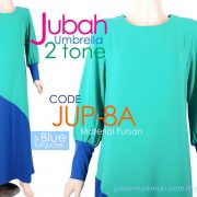 JUP8A [JUP-8A] Jubah Umbrella Plain 2 Tone Blue