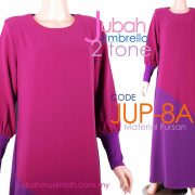 JUP8A [JUP-8A] Jubah Umbrella Plain 2 Tone Purple
